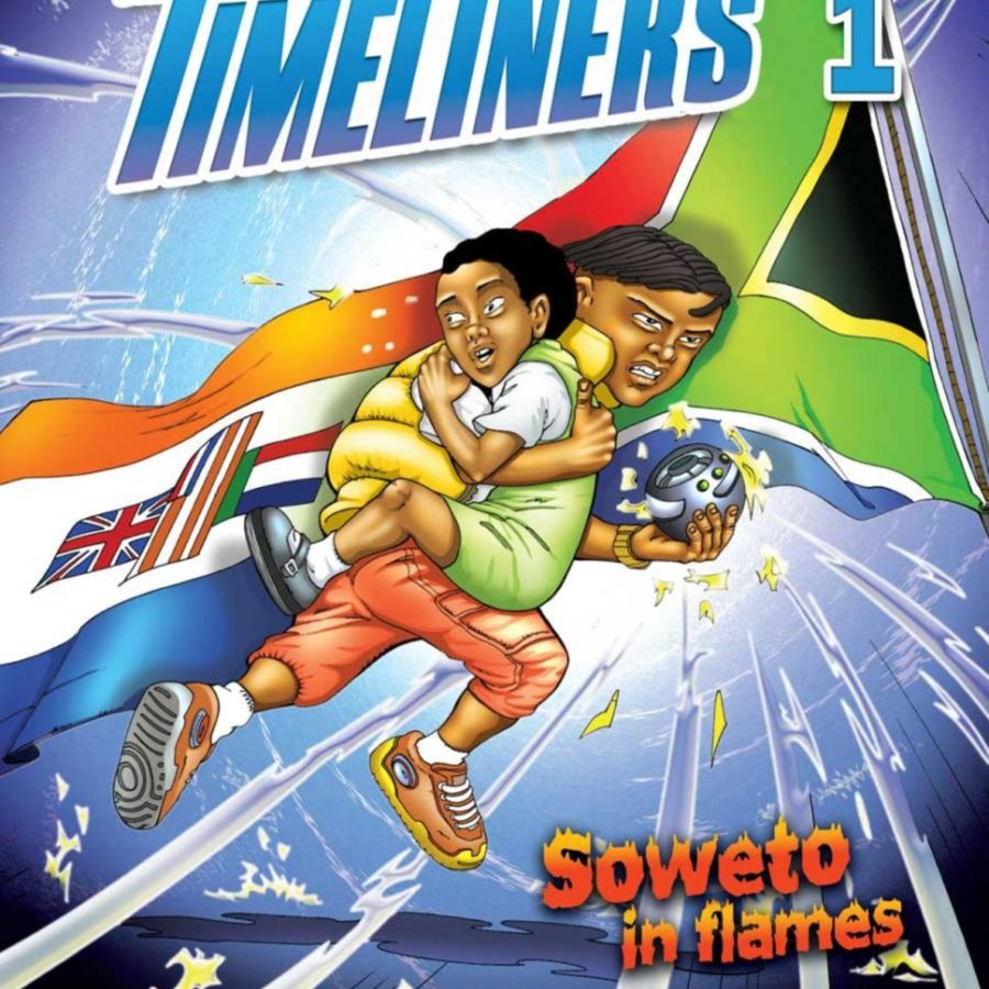 """Cover of the first """"Timeliners"""" comic, issued by Apartheid Museum in 2004."""